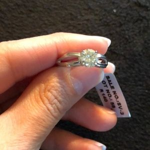 Moissanite Silver Ring